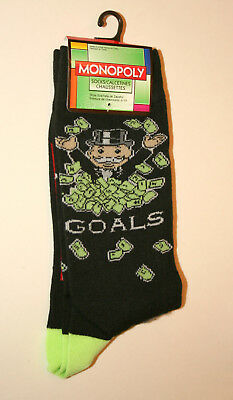 Unique Mr Monopoly Money Goals Game Hasbro New Pair Socks French? Fits 6-12