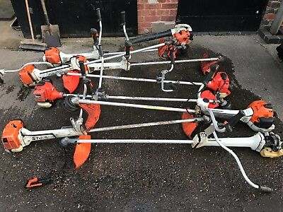 Job Lot Of Stihl Strimmers And Bits For Spares Or Repairs