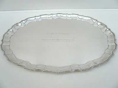 Silver Drinks Tray, Vintage,