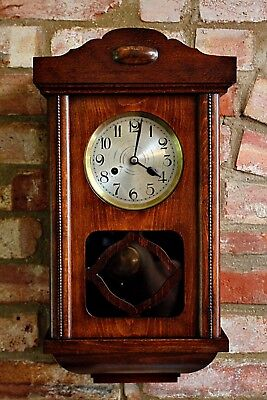 Vintage German 'Kienzle' Oak Wall Clock with Chimes