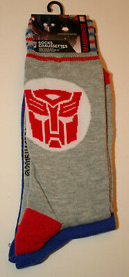 2 Pair Transformers Generations Robots New Socks Grey 2015 French? Fits 6-12.5