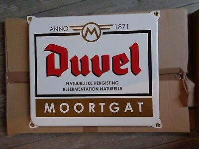 Duvel reclame metaal sign new eamil emanel white wit