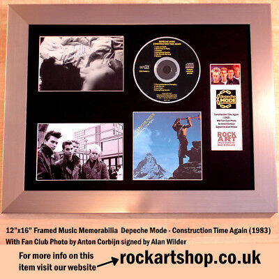 DEPECHE MODE Construction Time Again *SIGNED BY ALAN WILDER* Autographed *WORLD