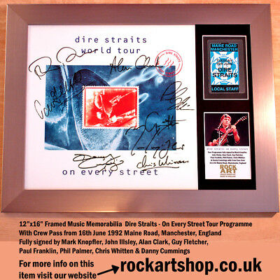 DIRE STRAITS On Every Street SIGNED BY MARK KNOPFLER +7 MEMBERS+PASS Autographed