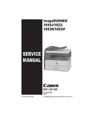 canon imagerunner c3080i service manual