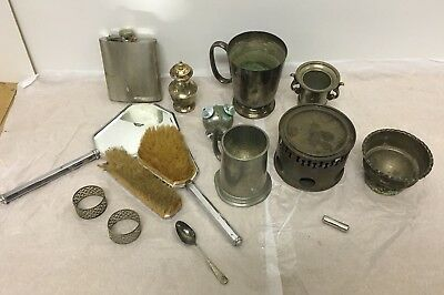 Vintage  Retro Metalwear Bundle Joblot Silver Plate Pewter