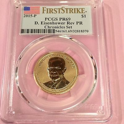 2015 P Reverse Proof Eisenhower Dollar PCGS PR69-First Strike-Only 17,000 Minted