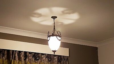 A pair of antique ceiling lights