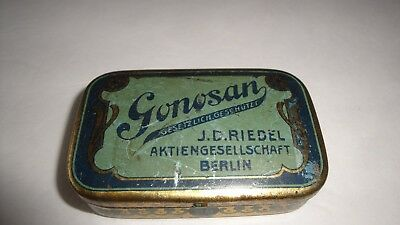 Antique Gonosan J D Aktiengesellschaft Berlin Medical Pill Box Tin
