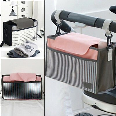 New Portable Baby Cart Strollers Bag Organizer Basket Canvas Pushchair Cup Bag