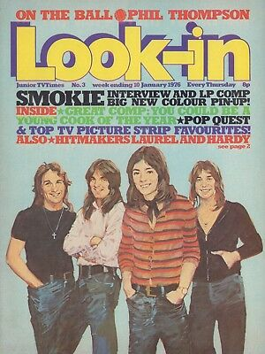 LOOK IN MAGAZINE. ISSUE 3. 10th January 1976. SMOKIE Center Spread.