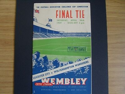 1949 FA CUP FINAL  LEICESTER CITY v WOLVERHAMPTON WOLVES @ Wembley