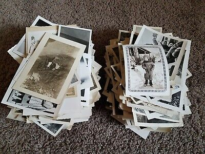600+ vintage snapshot photo lot black & white picture antique 20s 30s 40s 50s 3