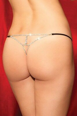 Perizoma sexy donna c-string tanga intimo notte slip coulotte con strass