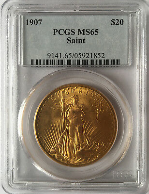 1907 $20 PCGS MS65 - Saint Gaudens Double Eagle - Gold Coin - Free Shipping