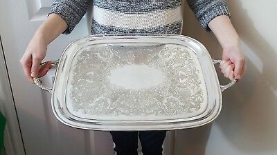 Viners of Sheffield antique silver plated tray