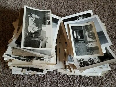 600+ vintage snapshot photo lot black & white picture antique 20s 30s 40s 50s 6
