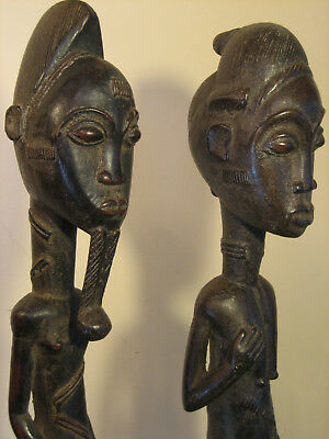 Baule Spirit Couple Figures African Tribal Art Statue