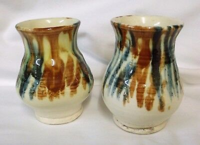 2 X Clay Pits Ewenny Pottery Small Vases