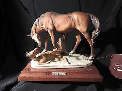 "Guiseppe Armani & Capodimonte "" Mare And Foal""  From Italy"