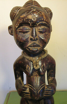 Cute Plump Chokwe Figure African Tribal Art Statue