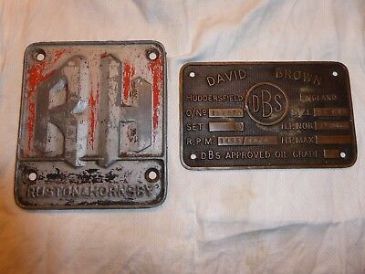 Ruston and Hornsby engine plate