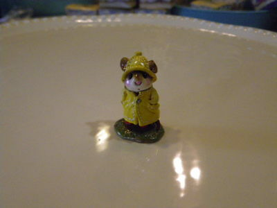 Wee Forest Folk M-180,April Showers yellow raincoat  Retired