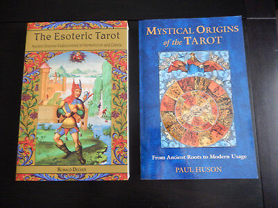The Esoteric Tarot and Mystical Origins of the Tarot books, brand new