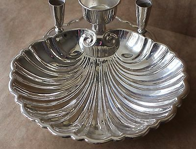 Vintage SHEFFIELD BOWL Clam SHELL Silverplate SERVING EPC Footed  FIGURAL