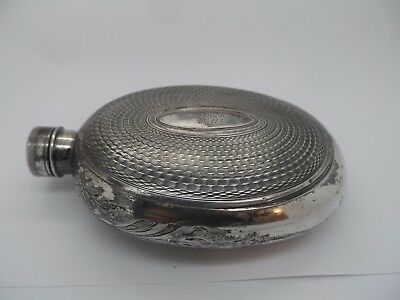 Victorian James Dixon & Sons Silver Plated Hip Flask Circa 1880's No Reserve