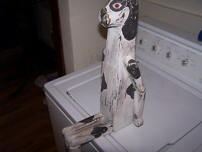 Articulated Dalmatian Dog Folk/Farm Art - Wood