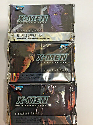 (4) X-Men Movie Trading Cards Packs Topps NEW, SEALED, FREE SHIPPING