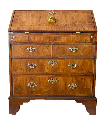 Stunning Queen Anne Walnut Bureau Exhibiting Fine Figured Timber & Patination