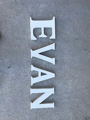 White Wooden Letters- EVAN