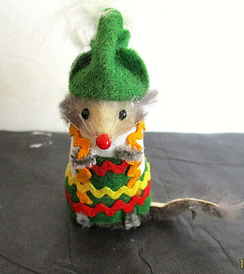 """Alpine"" Mouse, from The Little Mouse Factory, Green Hat w/ Feather"