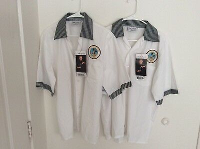 US Navy Lot Of 2 Chef Works Naval Base San Diego New With Tags Size Med