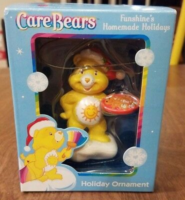 Care Bears Funshine Yellow 2004 American Greetings Holiday Ornament New In Box