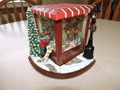 Roman Inc Musical Led Santa's Workshop Christmas Santa