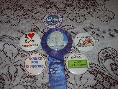 Lot Of Old Kroger Store Employee Buttons Advertising