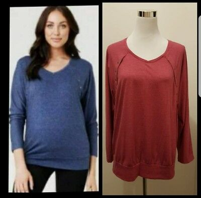 Ripe Maternity Nursing Long Sleeved Top - Size M (~12) - GUC