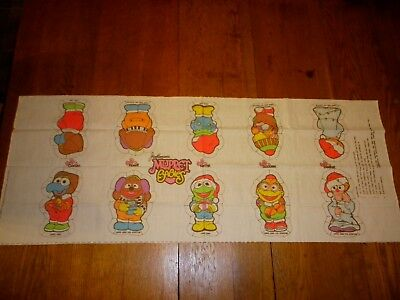 1985 Muppet Babies Christmas Cut Sew Pillow Panel Kermit Rowlf Gonzo Scooter