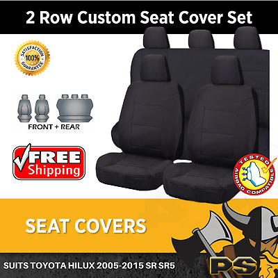 Canvas Car Seat Covers to suit Toyota Hilux 2005-2015 SR SR5