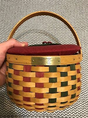 Longaberger 2003 Christmas Series Caroling Basket with Protector