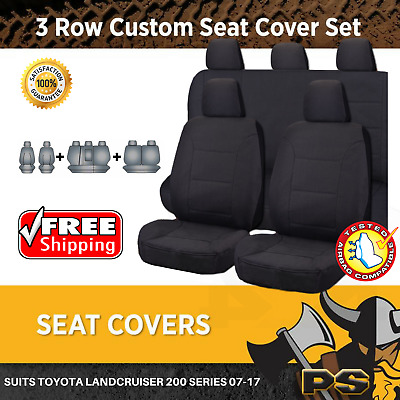 Canvas Car Seat Covers to suit Toyota Landcruiser 200 Series 10/2007-2017 GXL