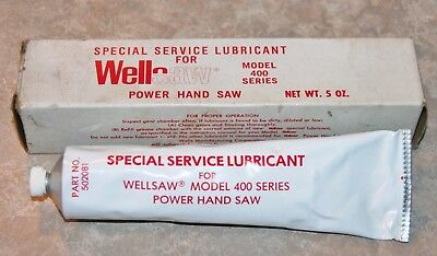 OEM Wellsaw Power Hand Saw 400 Series Lubricant Grease Butcher Meat  Jarvis NOS?