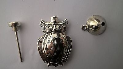 Tiffany Co Sterling Silver Owl Perfume Dabber with Original Sterling Fill Funnel