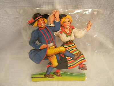Vintage Swedish Dancers Paper Doll Cutouts!! - Made In Sweden - New In Package!