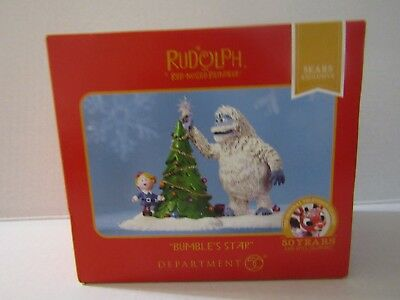 "Rudolph The Red Nosed Reindeer Dept 56 ""bumble's Star"" Mib  Sweet"