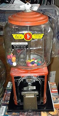 Victor Topper VIEWER Gumball Vending Machine Vendor Penny Coin Operated