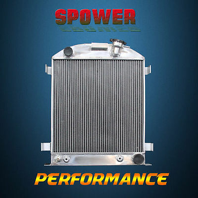 3-Row/CORE Aluminum Radiator For Ford Chopped Chevy Engine AT MT 1932 62mm
